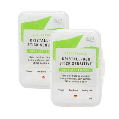 Kit 2 Desodorantes Stone Kristall Sensitive Alva - 90g - VEG