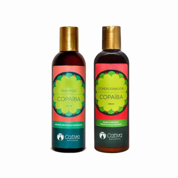 shampoo e condicionador copaíba