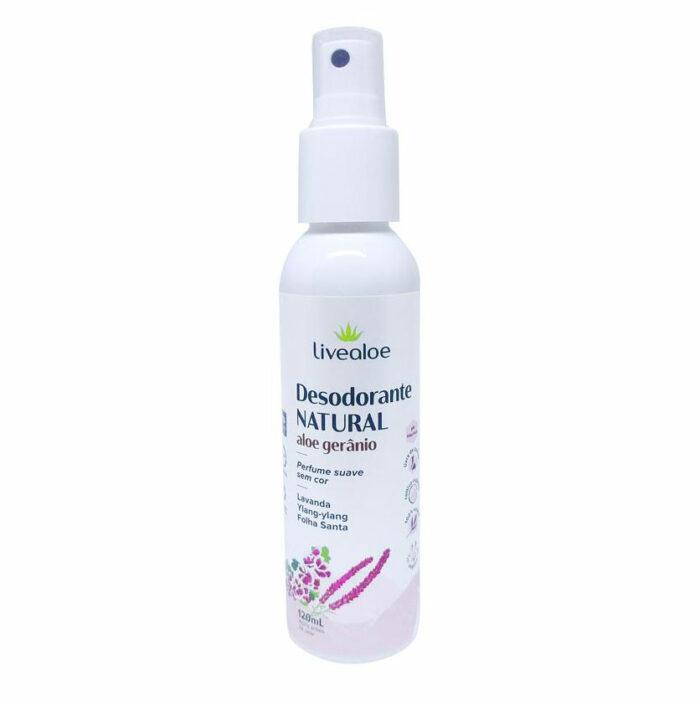 Desodorante Natural Aloe Gerânio - 120ml - Livealoe