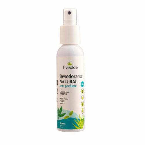 Desodorante Natural Sem Perfume - 120ml - Livealoe