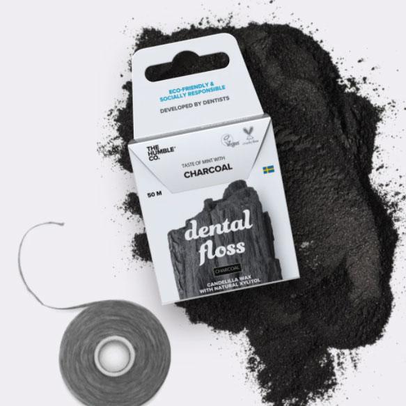 Fio Dental Orgânico Carvão The Humble 50 metros - VEG