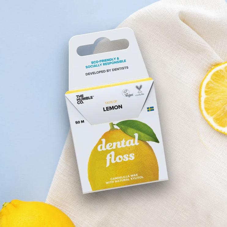 Fio Dental Orgânico LEMON The Humble 50 metros - VEG