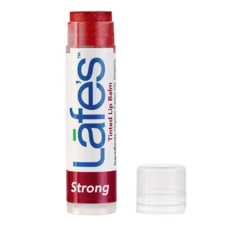 Hidratante Labial com Cor - Tinted Lip Balm Organic LAFE'S - Strong