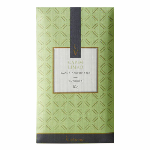 Sachê Perfumado Capim Limão - 10g - Via Aroma