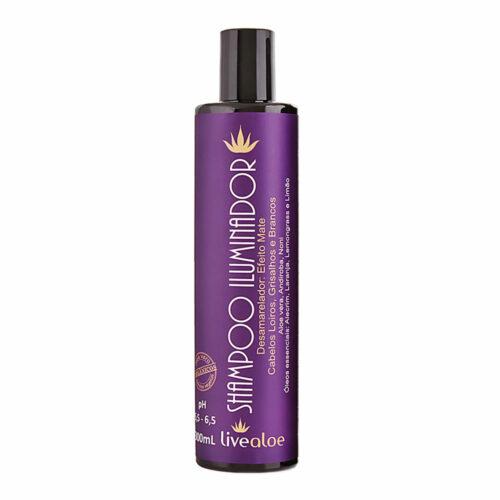 Shampoo Iluminador Aloe Vera - 300ml - Livealoe