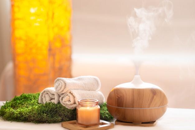 óleo essencial no aromatizador