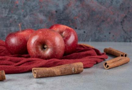 maçã com canela