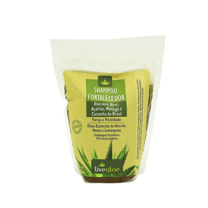refil shampoo fortalecedor live aloe